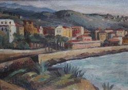"""Gemälde - Hans Buri (1893 Rheinfelden - 1963 Basel) """"Küstenlandschaft"""", l.u. signiert Buri, Öl auf"""