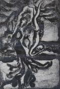 """Radierung - Georges Rouault (Paris 1871 - 1958) aus """"La tentation de Saint Antoine"""","""