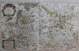 """Kupferstich - Alexis Hubert JAILLOT (1632 Avignon-lés-Saint-Claude -1712 Paris) """"Le Cercle de"""