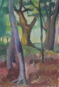 """Gemälde - Sigrid Kopfermann (1923 Berlin - 2011 Düsseldorf) """"Baumlandschaft"""", r.u. signiert,"""