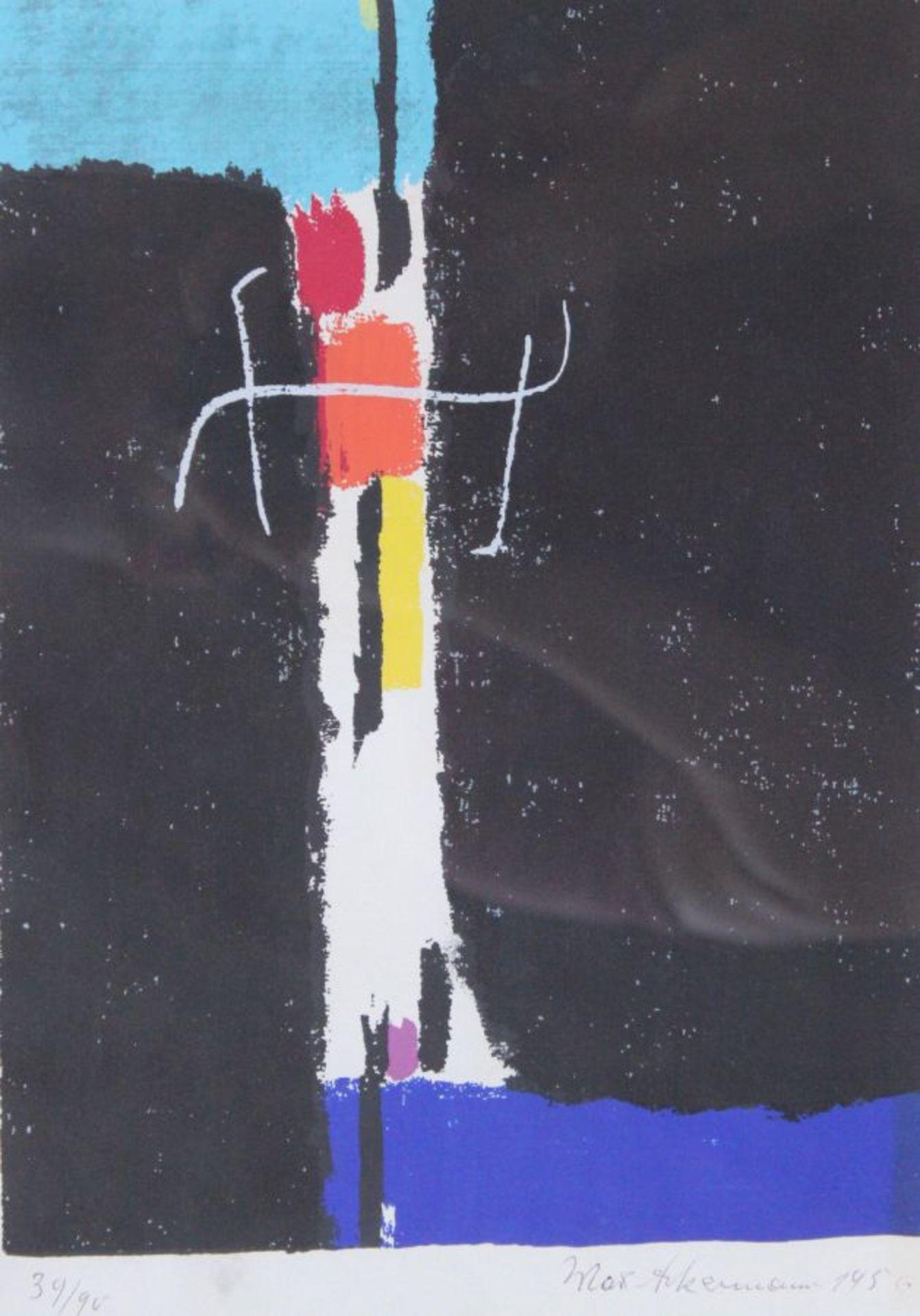 """Farbserigraphie - Max Ackermann (1887 Berlin - 1975 Unterlengenhardt) """"Komposition"""", r.u. signiert"""