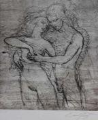 """Lithographie - Prof. Ernst Fuchs (Wien 1930 - 2015) """"Tristan und Isolde"""", r.u. Bleistiftsignatur,"""