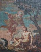"""Gemälde - wohl 18.Jahrhundert """"Darstellung aus der Schöpfungsgeschichte"""", anonymer Künstler, Öl"""