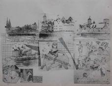"Lot Grafik - Prof. Anthony Canham (1941) ""Regensburger Themen"", r.u. Bleistiftsignatur, datiert"