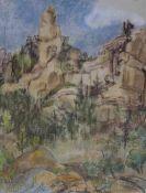 """Zeichnung - Georg Tappert (Berlin 1880 - 1957) """"Dolomiten"""", r.u. signiert, Kreide auf Papier, Maße"""