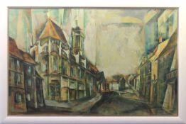 """Gemälde - Anton Greiner (1914 Bamberg - 2007) """"Bamberg"""", r.o. signiert und datiert 77, Öl auf"""