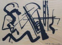 "Aquarell - Erwin Schulz - Carnoff (1913 Königsberg - 1990 München) ""Abstrakte Komposition"", r.u."