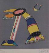"""Farblithographie - Otmar Alt (1940 Werningerode/Harz) """"Ohne Titel"""", r.u. Bleistiftsignatur,"""