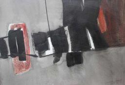 """Aquarell - Herbert Bessel (1921 Hamburg - 2013 Rasch bei Nürnberg) """"Abstrakte Komposition"""", r.u."""