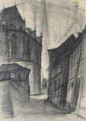 """Zeichnung - Anton Greiner (1914 Bamberg - 2007) """"Obere Pfarrgasse Bamberg"""", r.o signiert und datiert"""
