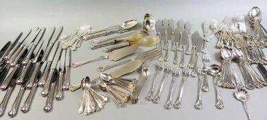 Besteck für 12 Personen Silber 925, einzeln mit Feingehaltstempel, Silberschmiede Bellotto aus