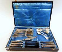 Besteck-Service Silber 800, Halbmond und Krone, Sichelmond der Silberschmiede Wilkens und Adler