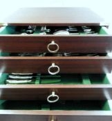 """Robbe & Berking Besteckservice Silber 925, jeweils mit Feingehaltstempel, mit Herstellermonogramm """""""