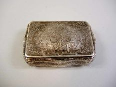 Hanauer Silberdose Silber 800, mit Halbmond und Krone und Meisterpunze von Jean L. Schlingloff aus