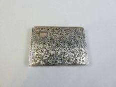 """Zigarettendose Silber 800, inwendig mit Feingehaltstempel und Silberschmiede """"JL"""" punziert."""