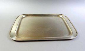 Großes Tablett Silber 925, Halbmond und Krone, Fußschale der Firma Koch & Bergfeld. Glatter