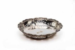Durchbruchschale, Whiting Manufacturing Company New York (1866-1926) . Sterling , D 22,5 cm,