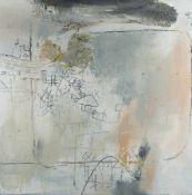 Shan Fan 1959 Hangzhou, tätig in Hamburg Komposition mit Blättern Ölmischtechnik und Collage auf