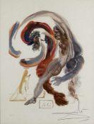 Salvador Dali 1904 - 1989 Figueras/Spanien Surrealistische Komposition mit Heiligen Lithografie