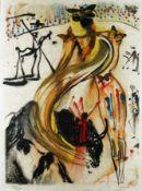 Salvador Dali 1904 - 1989 Figueras/Spanien Stierkampf Farblithografie auf Papier; H 740 mm, B 550 mm