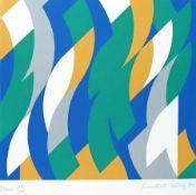 """Bridget Riley 1931 Start Farbsiebdruck auf Papier; H 348 mm, B 380 mm; signiert und datiert u. r. """""""