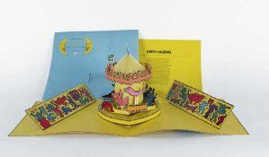 Keith Haring 1958 Kutztown - 1990 New York Luna Luna. A poetic extravaganza! Offset auf Karton,