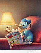 """Gottfried Helnwein 1948 Wien Donald Duck Offset auf Papier; H 540 mm, B 450 mm; nummeriert u. l. """""""