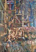 Thomas Häfner 1928 - 1985 Ohne Titel (Orgiastische Phantasie) Öl auf Lwd über Holz; H 111 cm, B 80