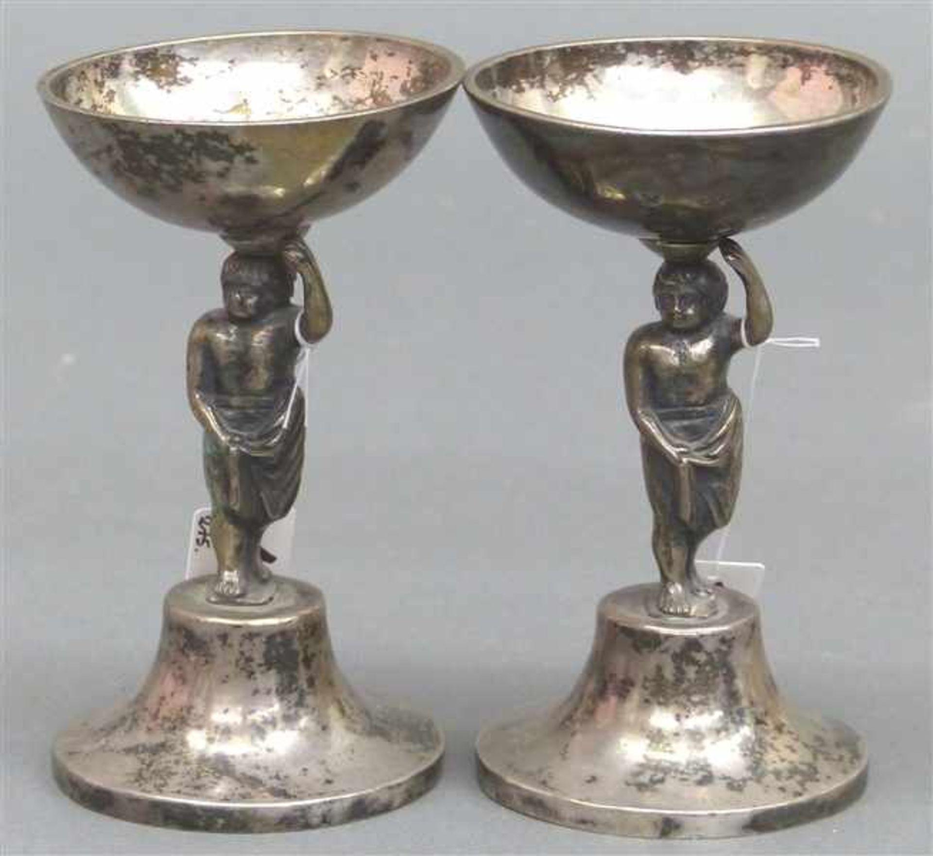 Los 1034 - Paar Aufsatzschälchen Silber, 13-lötig, punziert, Österreich-Ungarn, Wien 1816, Mittelteil figürlich