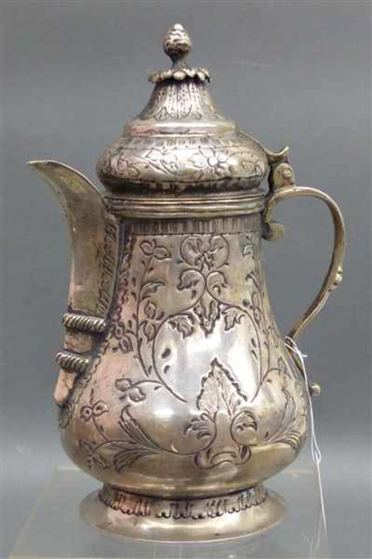 Los 1003 - Silberkännchen wohl persisch, um 1900, h 17 cm, 255 g schwer,