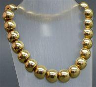 Collier 14 kt. Gelbgold, 25 Halbkugeln, Designarbeit, Kastenschloss mit Sicherung, ca. 98 g
