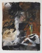 Gnüchtel, Dietrich Mischtechnik/Papier. Komposition. U. in Blei sign. u. dat. 1989. 43 x 34 cm.