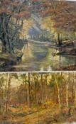 Enfield, Henry (London, Berlin 1849-1902) Herbstwald. Sign. Lwd. 40×60 cm. Beigegeben: HERRMANN