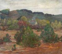 Albitz, Richard (Berlin 1876-1954) Forsthaus zwischen Bäumen. Sign. Lwd. 46×59 cm. Rückseitig