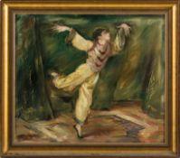 Berliner Maler (um 1920/25) Ausdruckstänzer in orientalischem Seidenanzug. Malkarton. 48×54 cm.