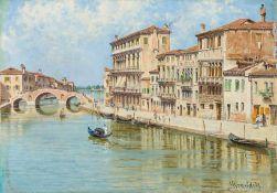 Brandeis, Antonietta (Miskowitz/Böhmen, Venedig 1849-1920) Venedig, Canal di Cannareggio. Auf dem
