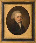 Bremer Porträtmaler (um 1792) Senator Gerhard Castendyck (Bremen, 1769-1801) in blauem, mit