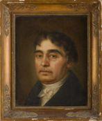 Biedermeier-Porträtmaler (um 1830/40) Älterer Herr in dunklem Rock. Wohl August Ludwig Bock (Sandau,