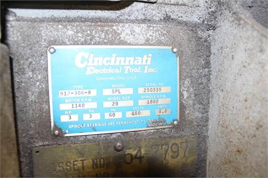 Lot 8 - Cincinnati Electric Tool Model SPL Type 912-306-8 Single Wheel Grinder