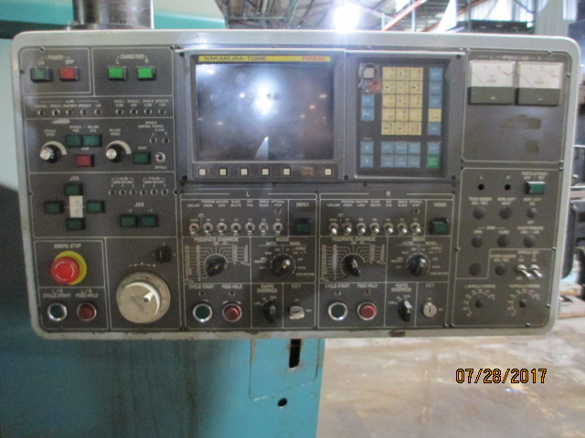 Lot 58 - Nakamura Tome Model TW-30 2-Axis Twin Spindle Turning Center - Dryden, MI