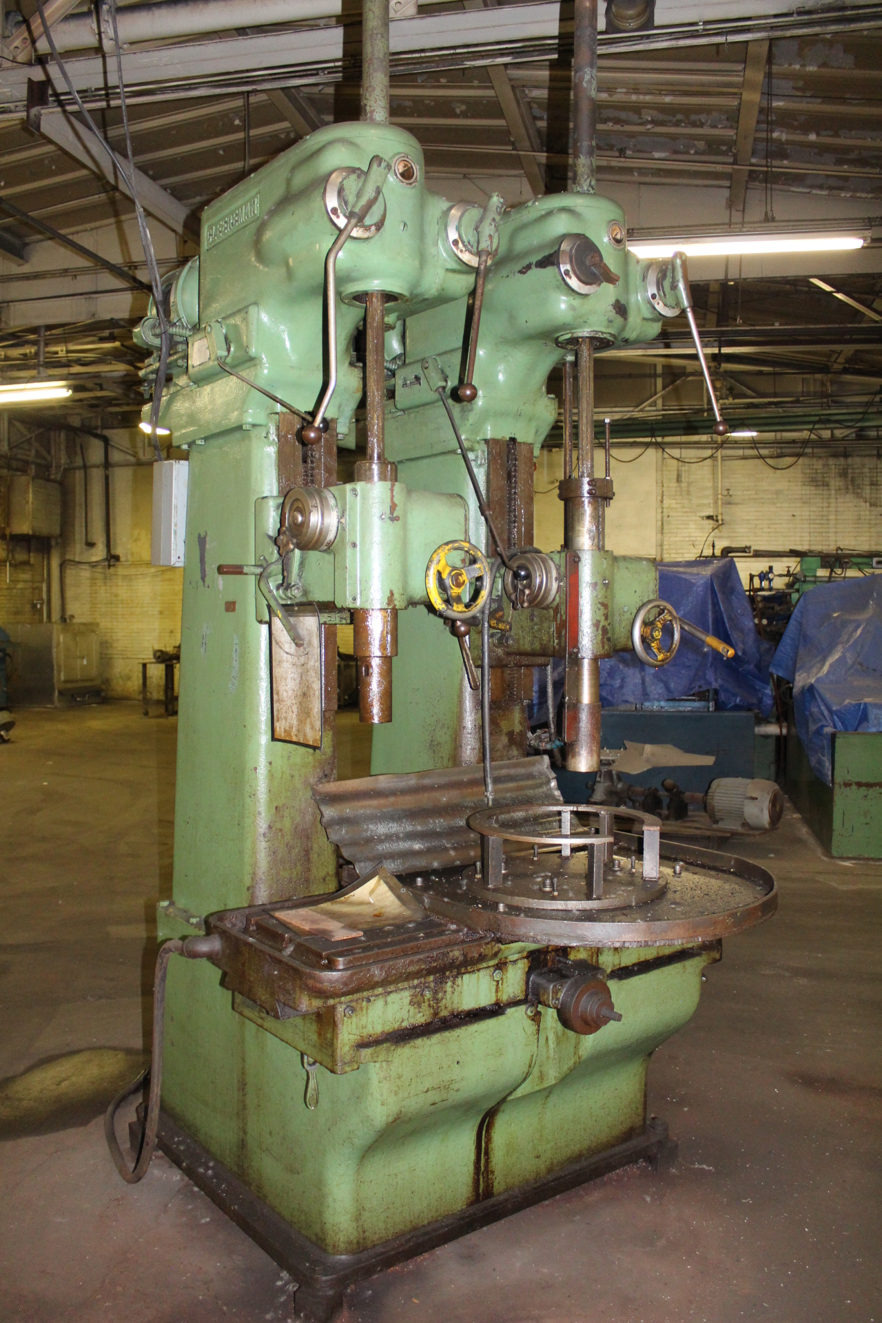 """Lot 59 - Cleerman 24"""" 2-Spindle Heavy Duty Production Drill Press"""