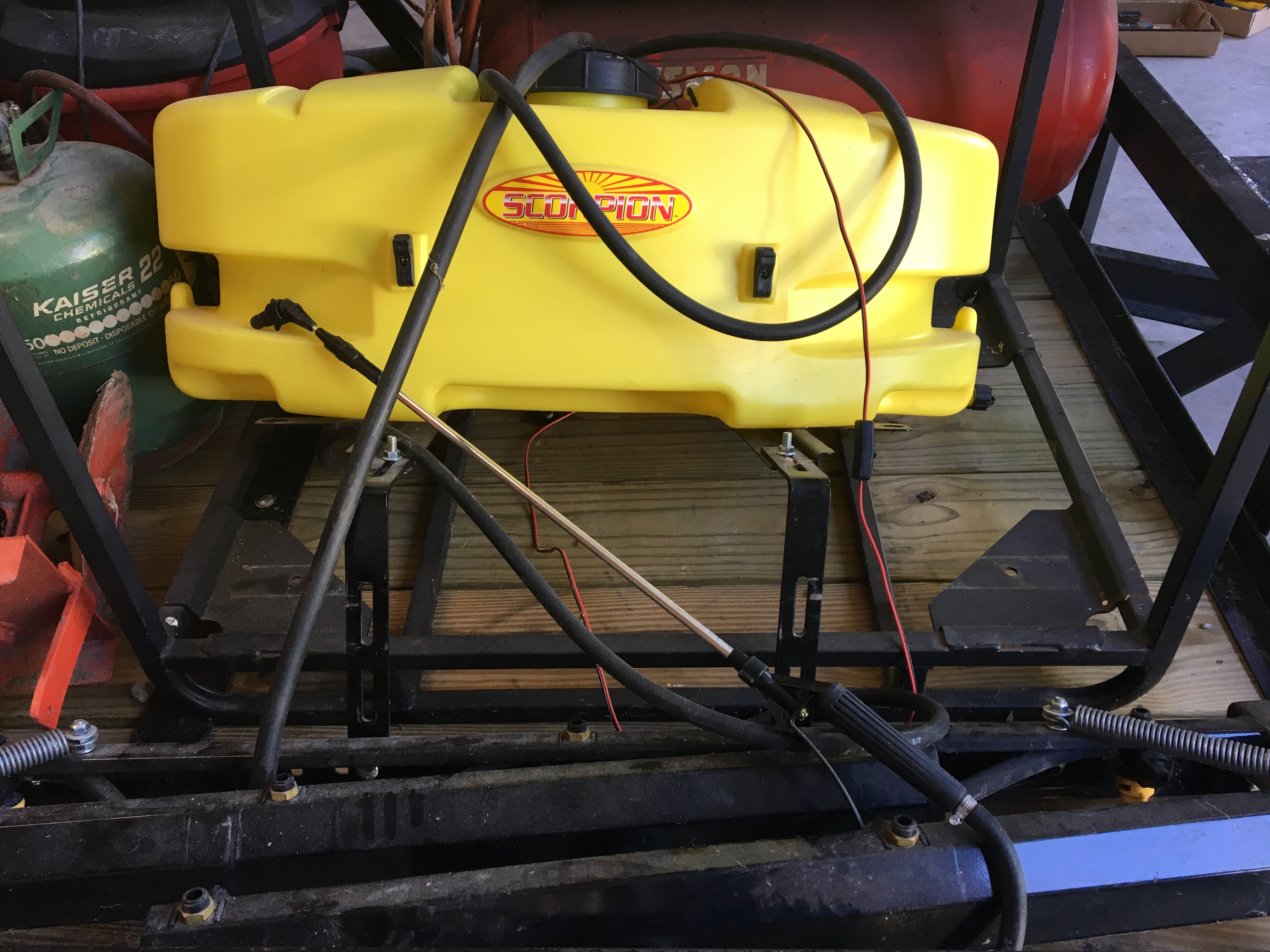 Lot 1 - Scorpion 3pt (Cat. 1) Sprayer with 8' boom and hand wand.