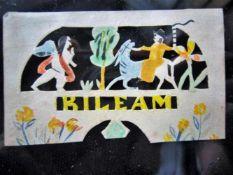Jantje de Prentenknipper, prentje 'BILEAM' (Engel en ezel probeerden Bileam tot inkeer te brengen)