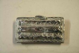 Loddereindoosje, zilver 19de eeuw
