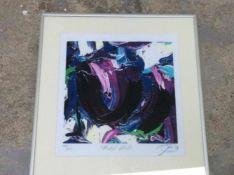 Jas 'Mabel Violet' lithografie, ges. en gedat.'99, 140/250, 32x30cm