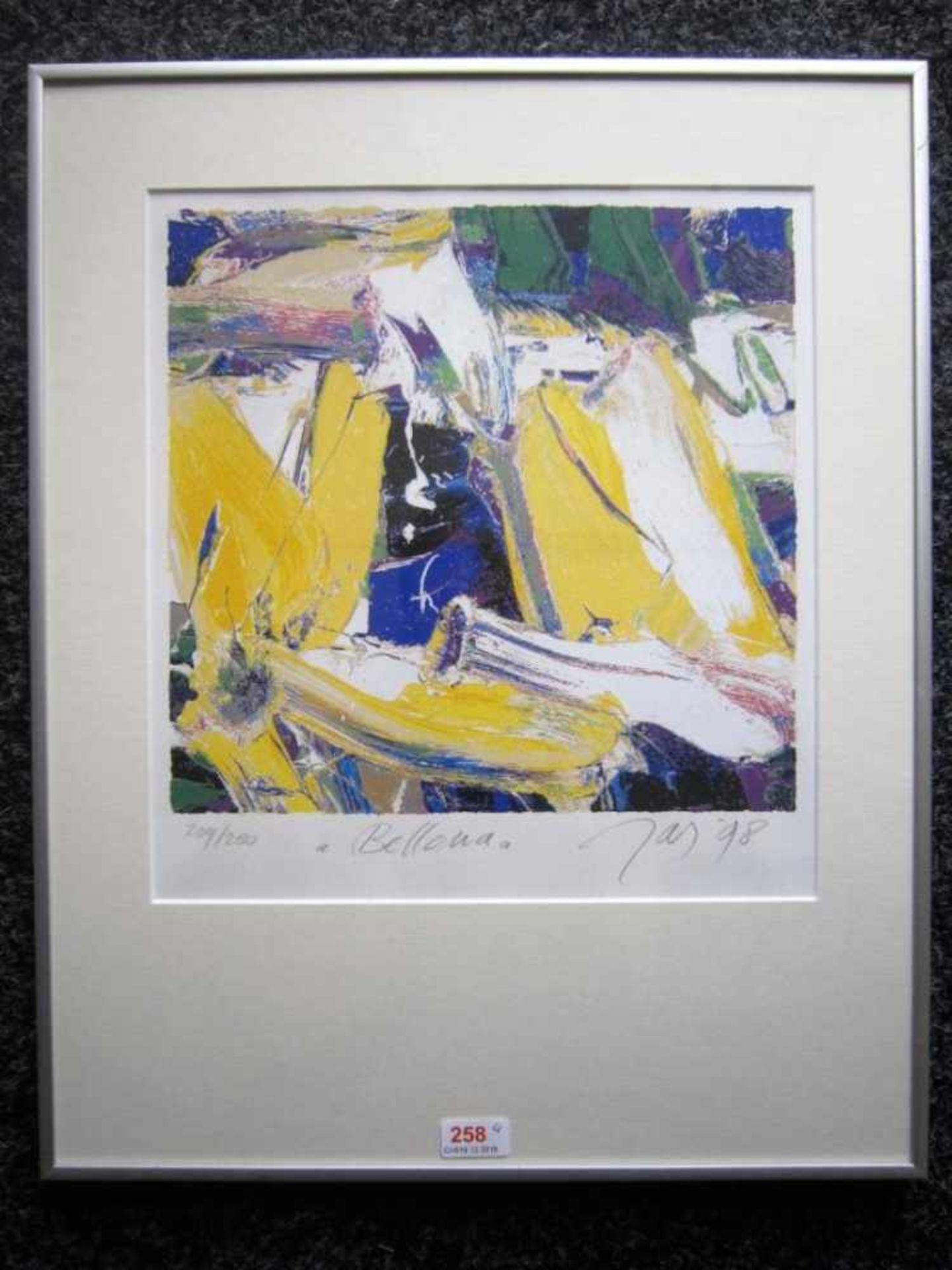 Jas 'Belladonna' lithografie, 209/250, ges gedat '9832x30cm