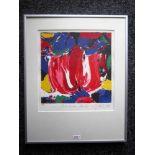 Jas 'Mokum red' lithografie, ges. en gedat.'99, 194/250, 32x30cm