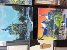 Twee maal Henk van de Vest, fotoprint op canvas,100x100 cm.