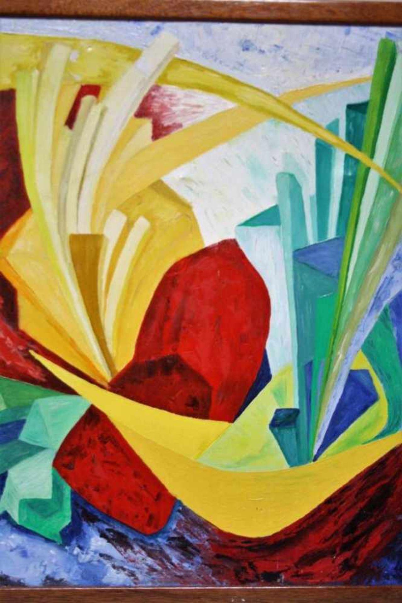 Modern schilderij 'Zomer' doek, gesigneerd, 20x40cm. (Modern painting, signed, canvas)