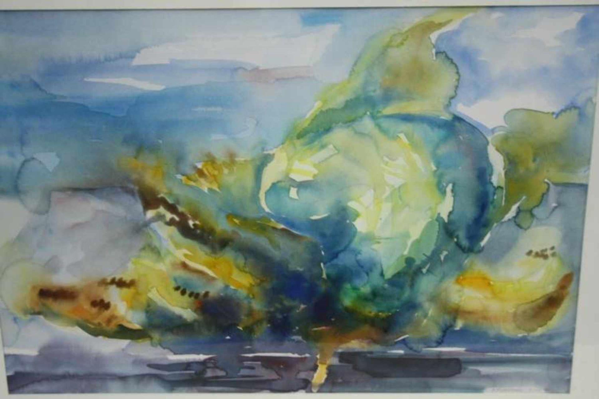 Aquarel A. Middelhoek, 63x83 cm, gedateerd 1990